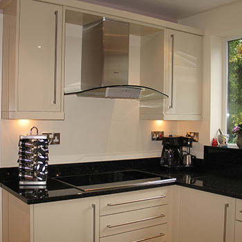 Black Angola granite, with upstands and window sill - granitecraft shropshire