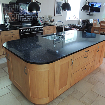 Look at the reflections that a dark granite produce. It brings the kitchen to life - granitecraft shropshire