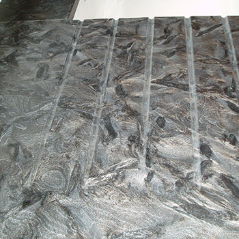 Matrix granite with drainage grooves - granitecraft shropshire
